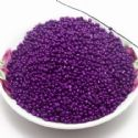 Beads, Seed beads, Glass, purple, Disc shape, Diameter 4mm, 20g, 280 Beads, (SSZ150)